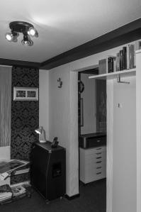 Blick in den ersten Raum meines kleinen Fotostudios